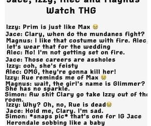 funny, the mortal instruments, and the hunger games image