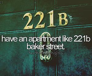 221B Baker Street, beforeidie, and bucketlist image