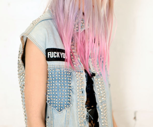 dip dye, studs, and fashion image