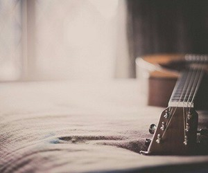 guitar, music, and vintage image