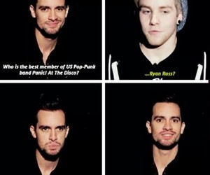 brendon urie, crying, and panic at the disco image