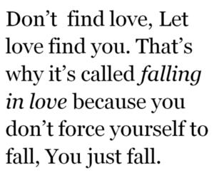 falling in love and love image