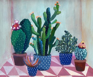 cactus, drawing, and succulent image