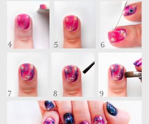 nails, galaxy, and tutorial image