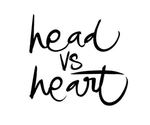 heart, head, and love image