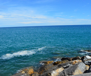 italy, ocean, and san remo image