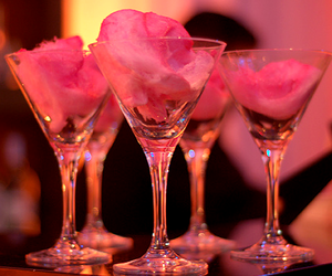 pink, drink, and cotton candy image
