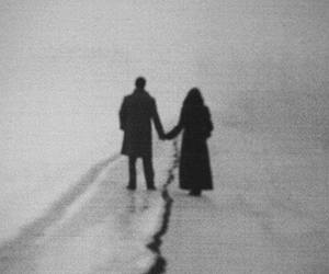 black and white and couple image