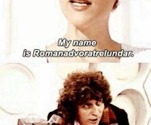 romana, doctor who, and k9 image