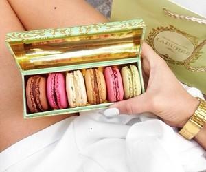 pink, macarons, and sweet image