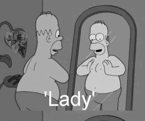 lady, homer, and man image