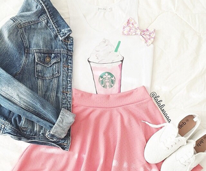 fashion, starbucks, and pink image