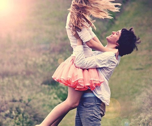 boy, girl, and happy love image