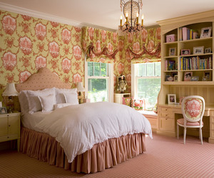 lovely bedroom, princess themed bedroom, and girl bedroom image
