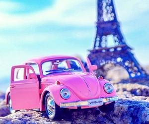 paris, pink, and car image