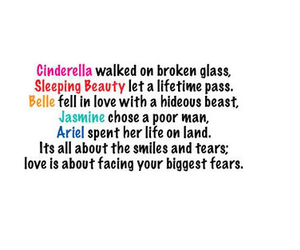 love, quote, and ariel image