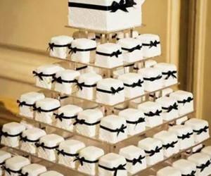 cake, wedding, and white image