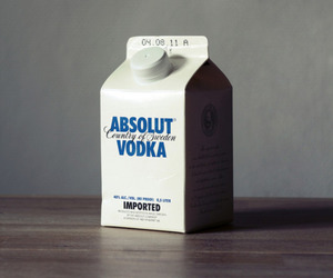 vodka, absolut, and milk image