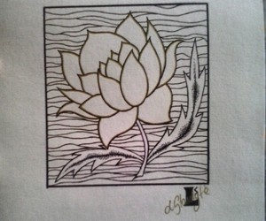 art, buddhism, and flower image