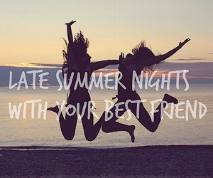 summer, night, and best friends image