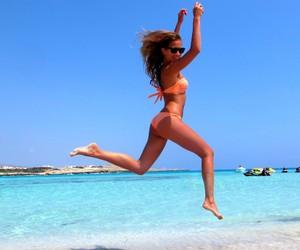 beach, bikini, and water image