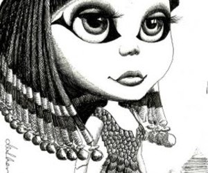 100 drawings in 100 days and cleo (blythe) patra image