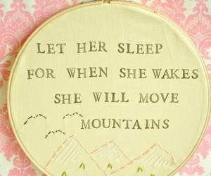 sleep, quote, and mountains image