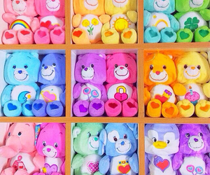 colorful, bear, and rainbow image