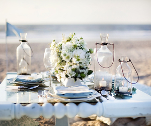 beach, inspiration, and wedding image