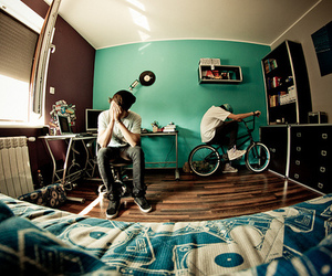 boy, room, and bike image