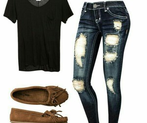 outfit, black, and school image
