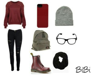 outfit, school, and fall image