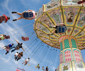 2009, amusement, and carousel image