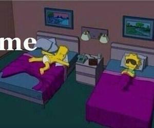 bart simpson, funny, and sleep image