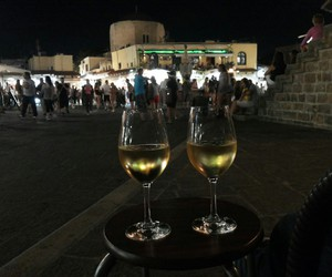 city, wine, and drink image