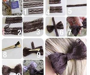 bow, diy, and cute image