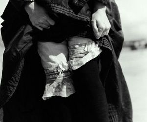 black and white, knickers, and dark image