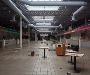 abandoned, mall, and pale image