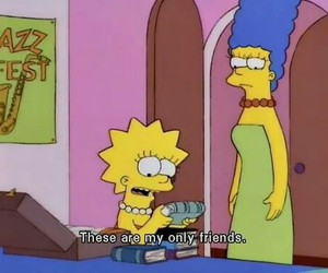 book, friends, and simpsons image