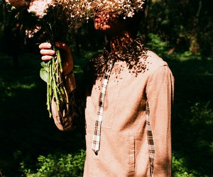 boys, young, and flowers image