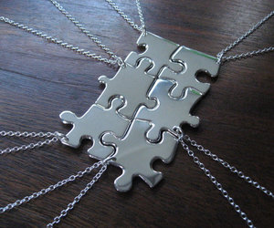 puzzle, friends, and necklace image