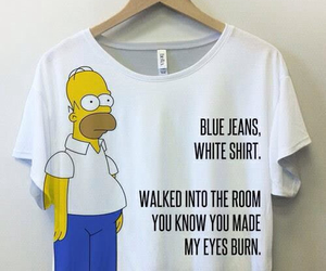lana del rey, blue jeans, and simpsons image