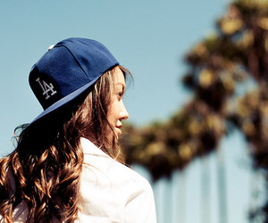 cap, girl, and think image