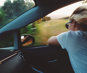 car, girl, and summer image