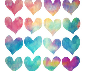 wallpaper, colors, and hearts image