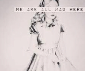 mad, alice in wonderland, and alice image