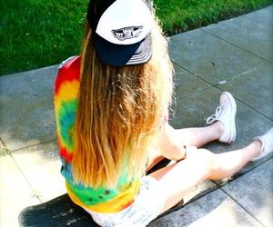 girl, skate, and vans image