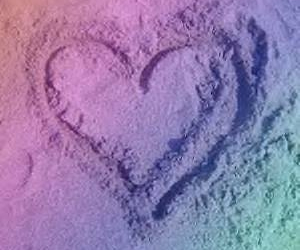 heart, love, and sand picture image