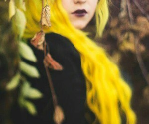 beautiful hair, yellow hair, and dyed hair image