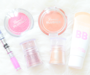 blush, makeup, and bb cream image
